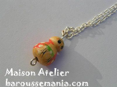 collier puce d amour orange