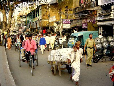 Inde-Delhi-la rue