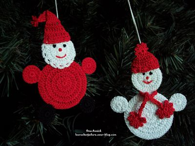 decoration de noel au crochet explication