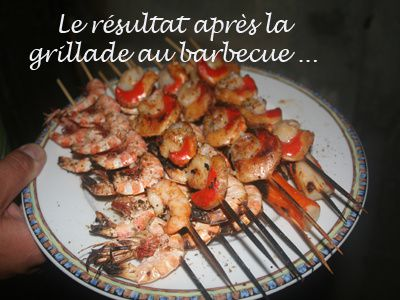 Le blog de jacques berthomeau party invitations ideas - Marinade gambas grillees au barbecue ...