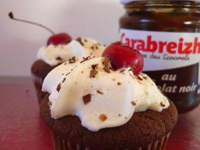 Cupcakes façon Forêt Noir