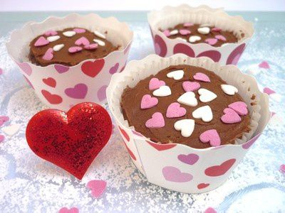 Cupcakes Chocolat & Fruits Rouges pour la Saint Valentin