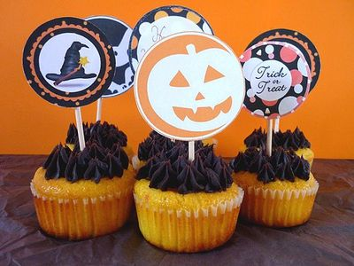 Cupcakes d'Halloween au Potimarron & Chocolat