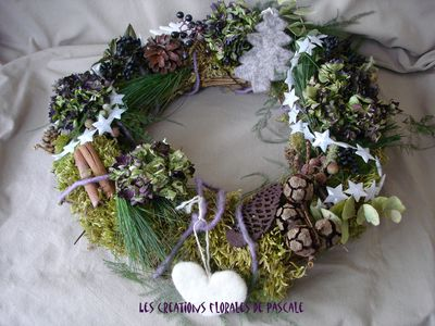 Noel r cr ation florale blog d 39 art floral blog mariage - Couronne centre de table noel ...