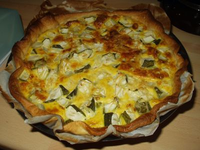 tarte aux courgettes. Black Bedroom Furniture Sets. Home Design Ideas