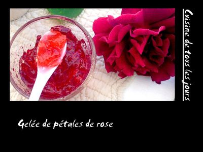 Gelée de pétales de rose