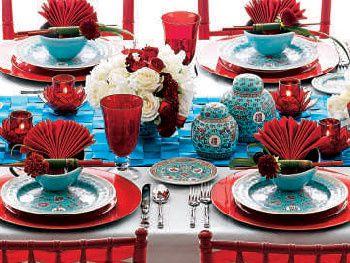 décoration de table thème asie