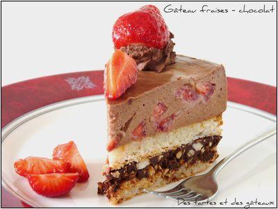 gâteau fraises 1