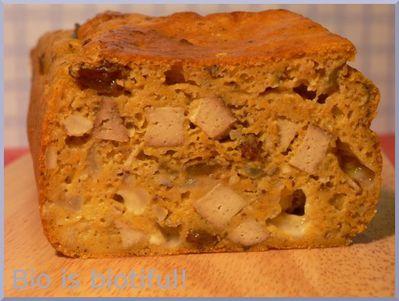 Cake butternut, noisettes et tofu fumé 1