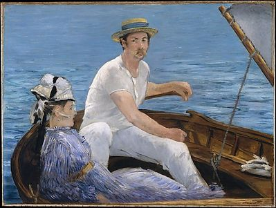 2 Manet 1874 boating Metropolitan