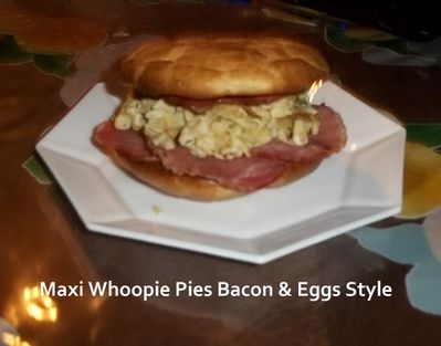 Whoopie bacon eggs 1