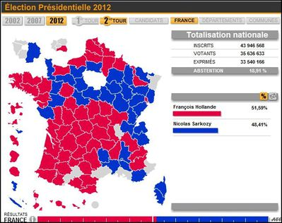 Carte Election 2eme tour