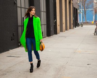 Hanneli-Mustaparta-wearing-lime-green-coat