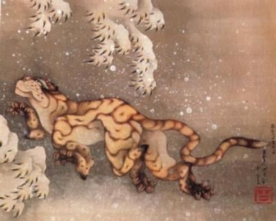 Katsushika-Hokusai-Vecchia-tigre-nella-neve-33349