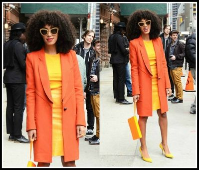 Solange-Knowles-outside-david-letterman-show-new-york-Yello