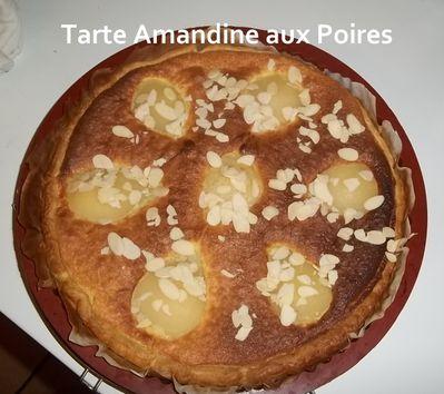 un tour en cuisine 16 tarte amandine aux poires mes petites recettes pr f r es. Black Bedroom Furniture Sets. Home Design Ideas