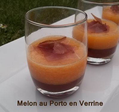 melon au porto en verrine mes petites recettes pr f r es. Black Bedroom Furniture Sets. Home Design Ideas