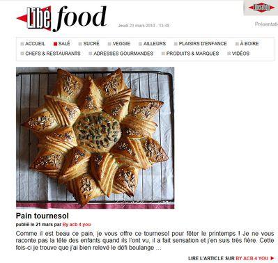 pain tournesol