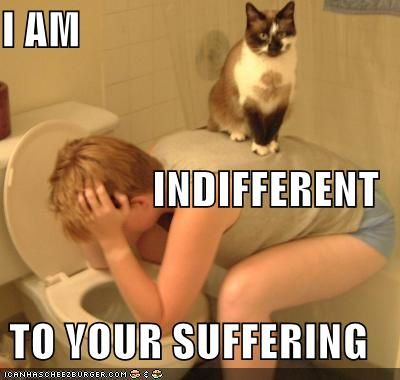 indifferent to your suffering