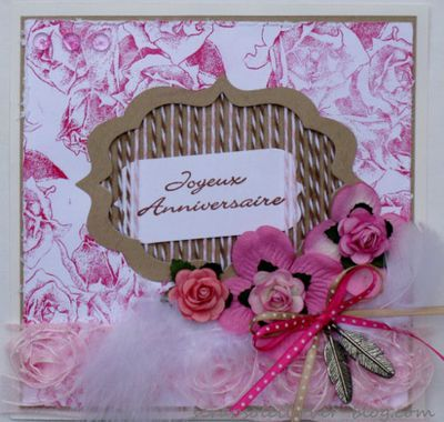 carte + signet rose et kraft (1)