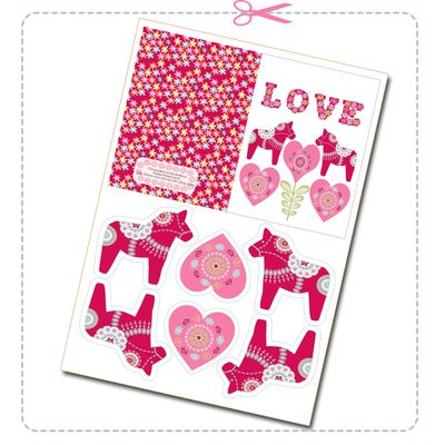 free printable envelope valentine card 2