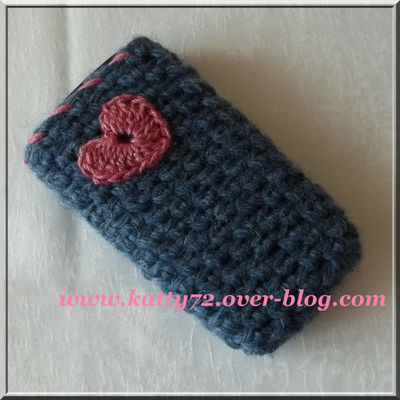 pochette pour t l phone portable au crochet le blog de. Black Bedroom Furniture Sets. Home Design Ideas