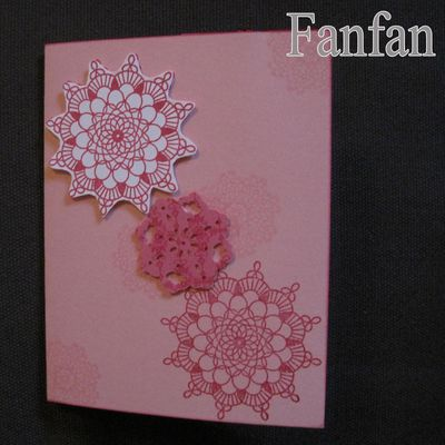 Carte Rosace Rose 01