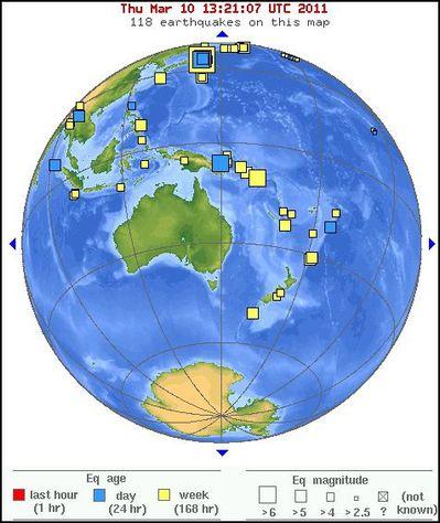 carte 10 mars Australie