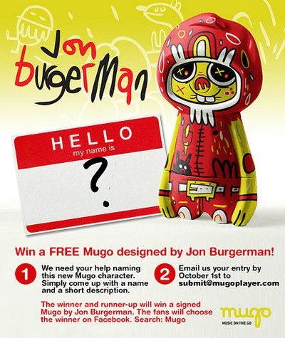 News Mugo by Jon Burgerman, art toys mp3 player