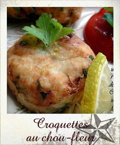 croquettes au chou-fleur