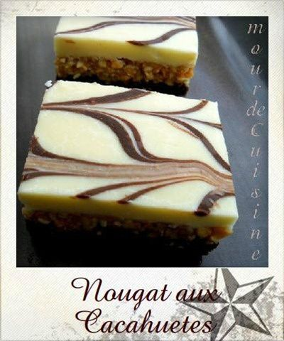 nougat aux cacahuetes