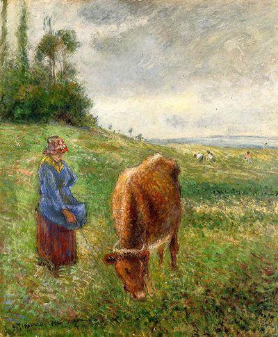 Cowherd Pontoise 1882