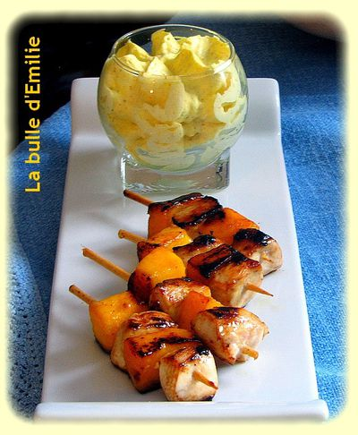 brochette chantilly curry