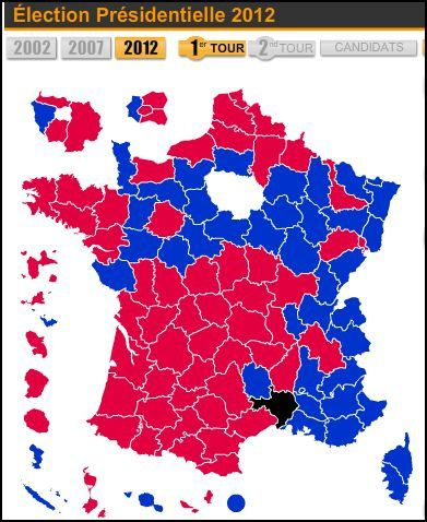 Carte Election 1er tour