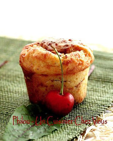Muffins au Fromage de Herve et Cerises