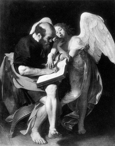 Le Caravage saint Mathieu et l'ange