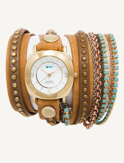 Camel Gold Bali Gold Odyssey Turquoise Crystal Wrap Montre