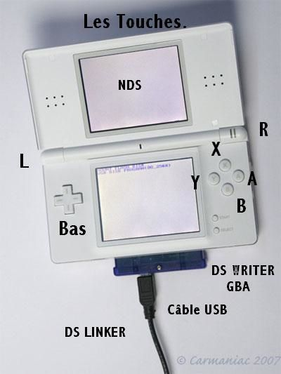 CONNECTION DS LINKER SUR CONSOLE DS NINTENDO