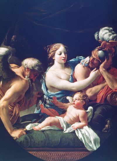Simon vouet Venus et mars