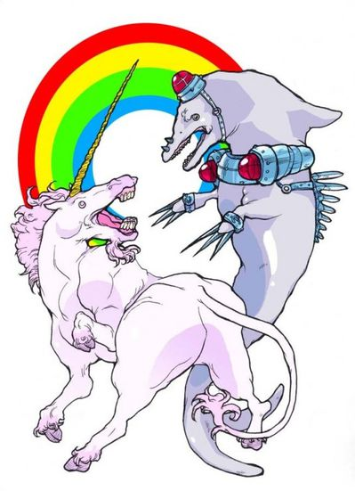 Happy-endings-Cyberdolphin-vs-Unicorn