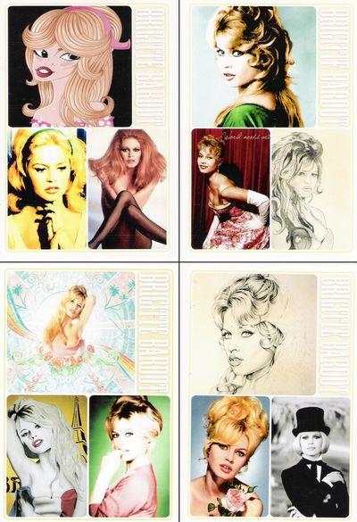11 - Cartes postales Bardot (Chine)