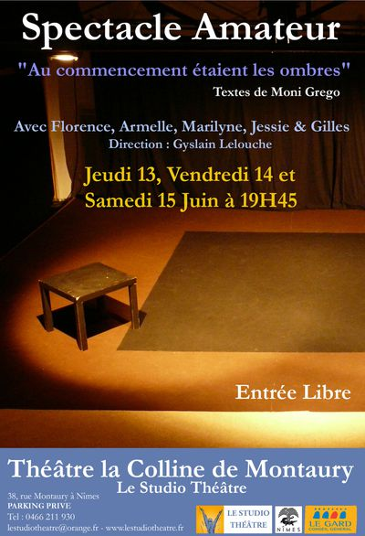 affiche spectacle amateur juin 2013