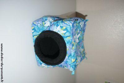 maison cube fleurie accessoires rongeurs