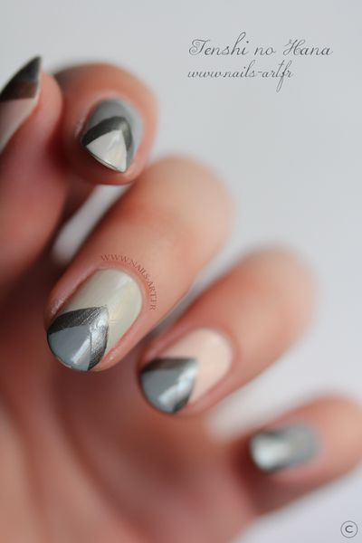 The New Black Heathered nail art 5
