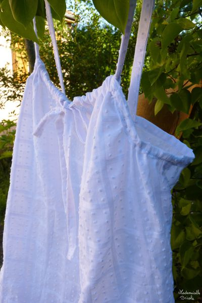 Couture top blanc plumeti 2