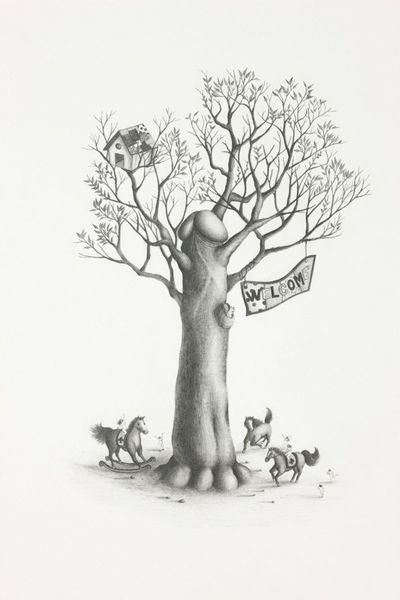 Emi Miyashita A Tree of Life 2012 2012 Pencil on paper