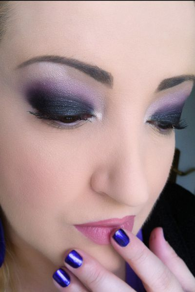 tutoriel makeup smokey eye black violet version jour et nuit be beauty by so 39 fy. Black Bedroom Furniture Sets. Home Design Ideas