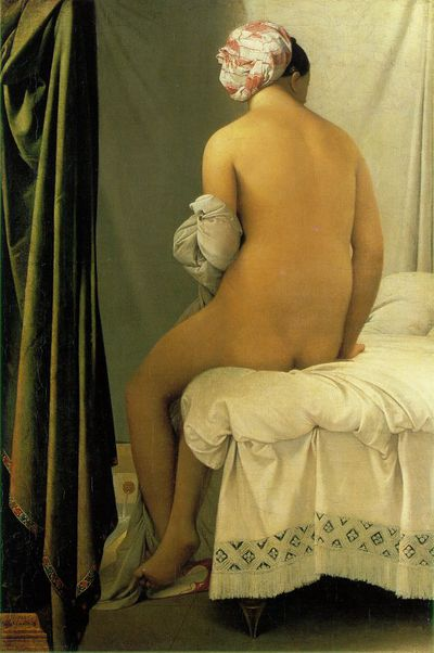 Ingres The Bather of Valpincon la grande baigneuse