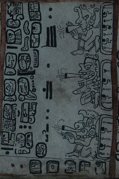 mexique codex maya fumeurs