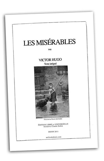 victor hugo les miserables couverture originale affiche rom